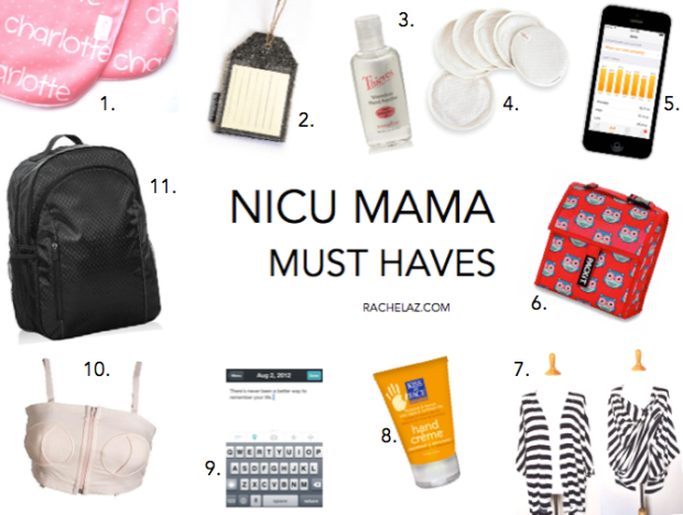 As a preemie mama, I know the many ups and downs of the NICU. Our daughter was born three months premature, and we were in the NICU for a total of 60 days. If you're a NICU parent, or have a girlfriend who has a little one in the NICU, I hope my list of practical NICU favourites (in no particular order) helps you.