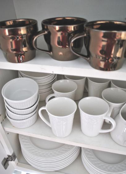 bronze + gold mugs // rachelaz.com