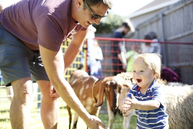 It's a Barnyard Bash! Finnley Haven Turns Two! https://rachelaz.com/ Country Chic, Modern Petting Zoo Birthday Party.